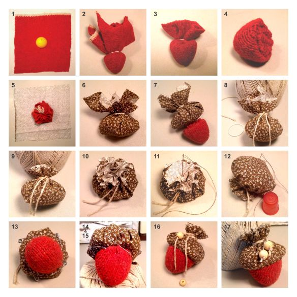 Easy DIY Recycled Fabric Acorns Tutorial by Shalom Schultz Designs. Fall and autumn craft using plastic eggs and old sweaters.