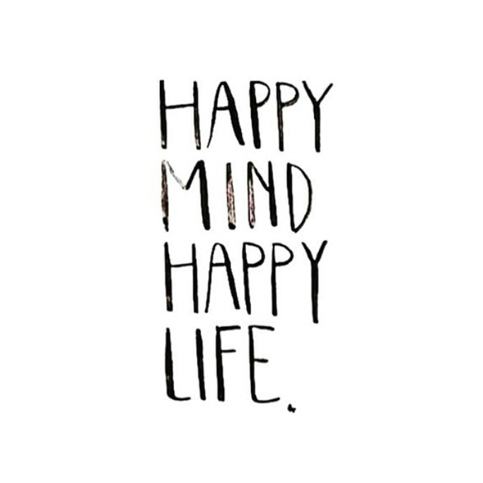 Happy mind happy life quote from @itscatharriss on Instagram. Happiness. Just be. Live in the moment. Motivation. Inspiration. Wise words. Quote of the day. Positive thinking & energy. Hope.