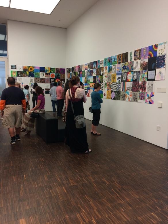 Community art exhibit at Figge Art Museum in Davenport, IA